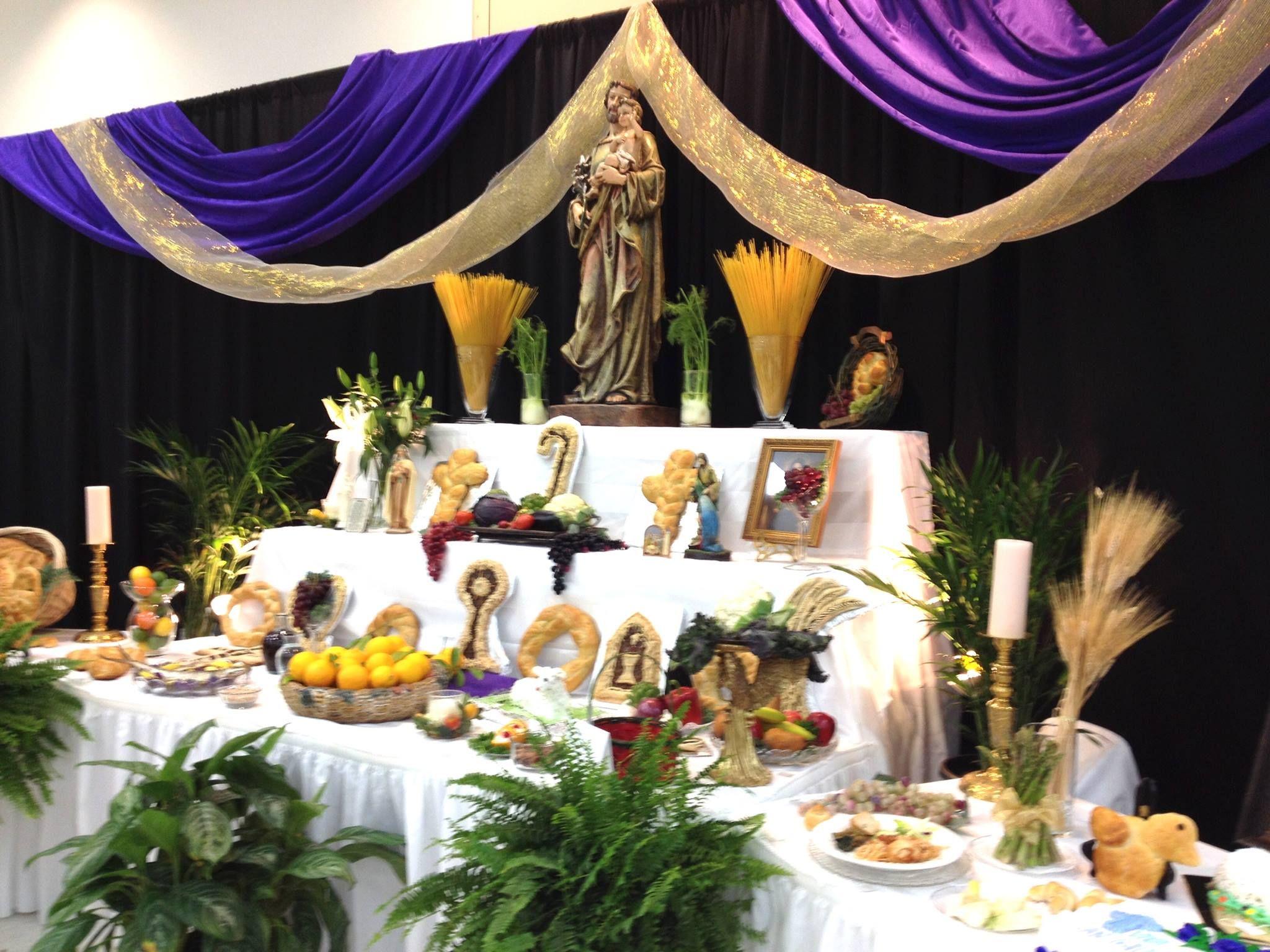 Saint Elizabeth Ann Seton Catholic Church, Houston Texas 2015 St. Joseph Altar. Our Italian Club offers a free spaghetti dinner for anyone. Thank you Italian Club.