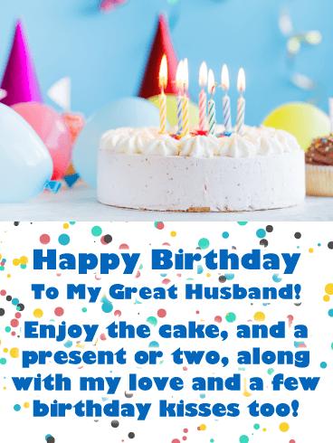 Celebration Cake Happy Birthday Card For Husband Birthday Greeting Cards By Davia Husband Birthday Card Special Birthday Cakes Cool Birthday Cakes