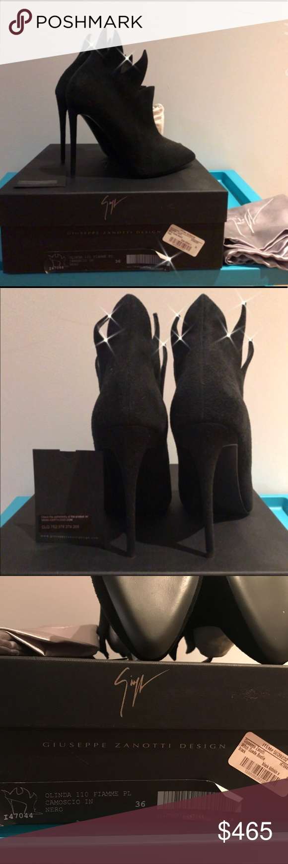 c86ac7c84be Authentic Giuseppe zanotti witch suede boogie NWT