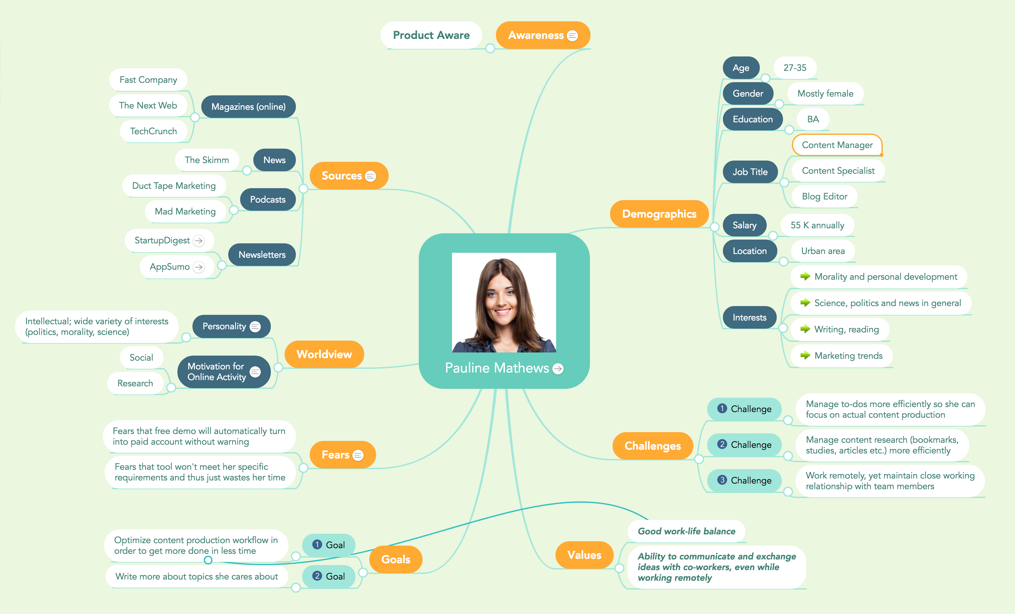 Marketing persona mind map marketing mind maps pinterest marketing persona mind map malvernweather Image collections