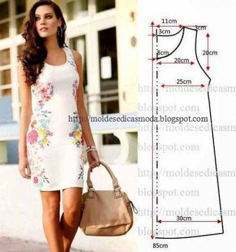 4872d16a6862 Простые выкройки летних платьев и сарафанов   Шитье   Pinterest
