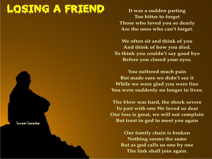 Quotes About Losing Friends To Death | Quotes