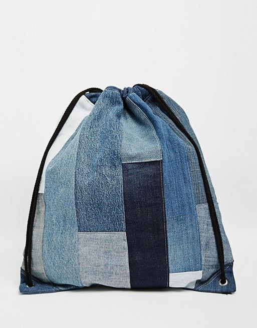 milk it denim rucksack im patchwork design tasche. Black Bedroom Furniture Sets. Home Design Ideas