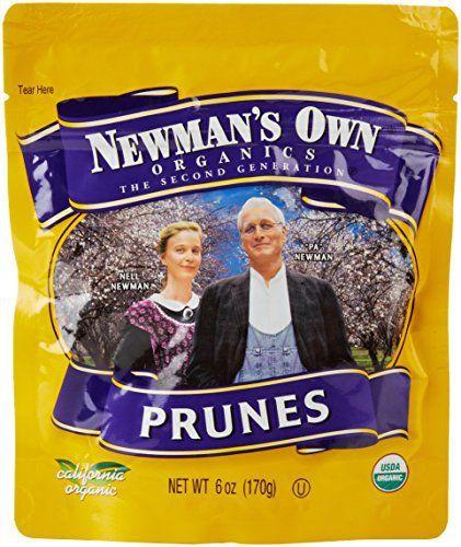 Newman's Own Organic Prunes, 6 Oz - http://goodvibeorganics.com/newmans-own-organic-prunes-6-oz/