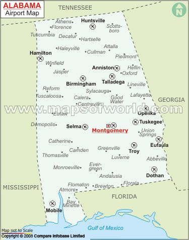 Map Of Airports in Alabama | #worldmapstore | Pinterest | Alabama