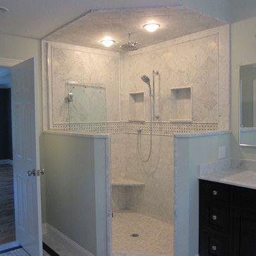 Half Wall Shower This Is How Your Door Will Open No Shower