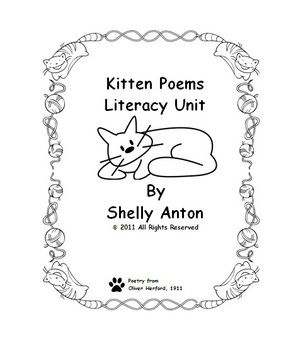This is a literacy unit based on kitten poetry from Oliver