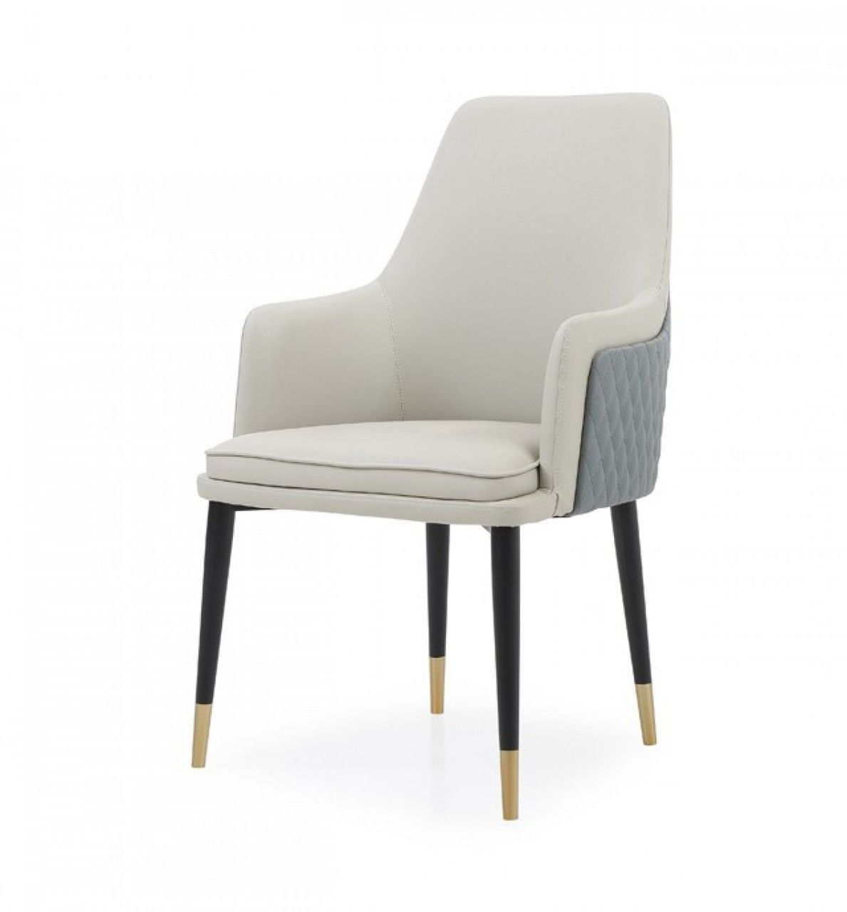 Modrest Duval Modern White Grey Dining Chair Outdoor Dining