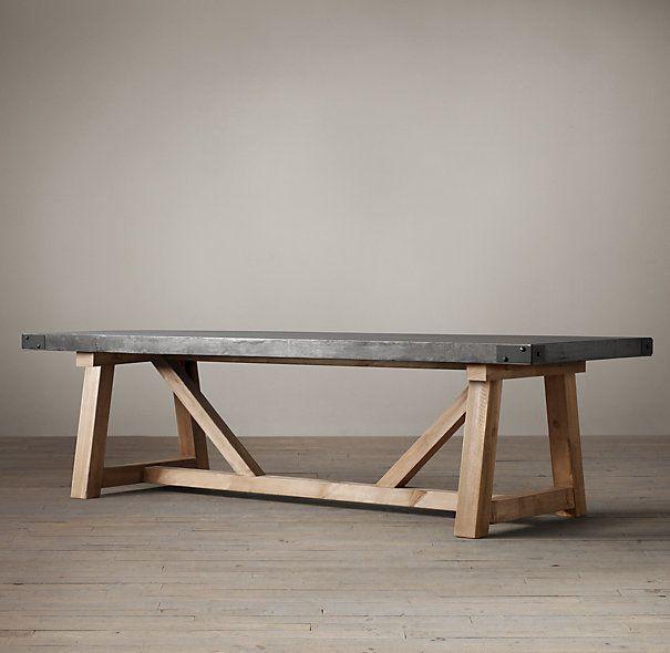 Salvaged Wood Concrete Beam Tables Couchtisch Diy Esstisch Holz Betontisch