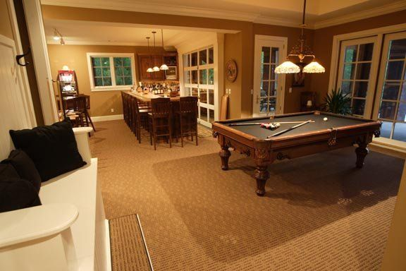 Basement Game Room - Private Residence - Lake Lanier, GA - Axis Architecture & Design