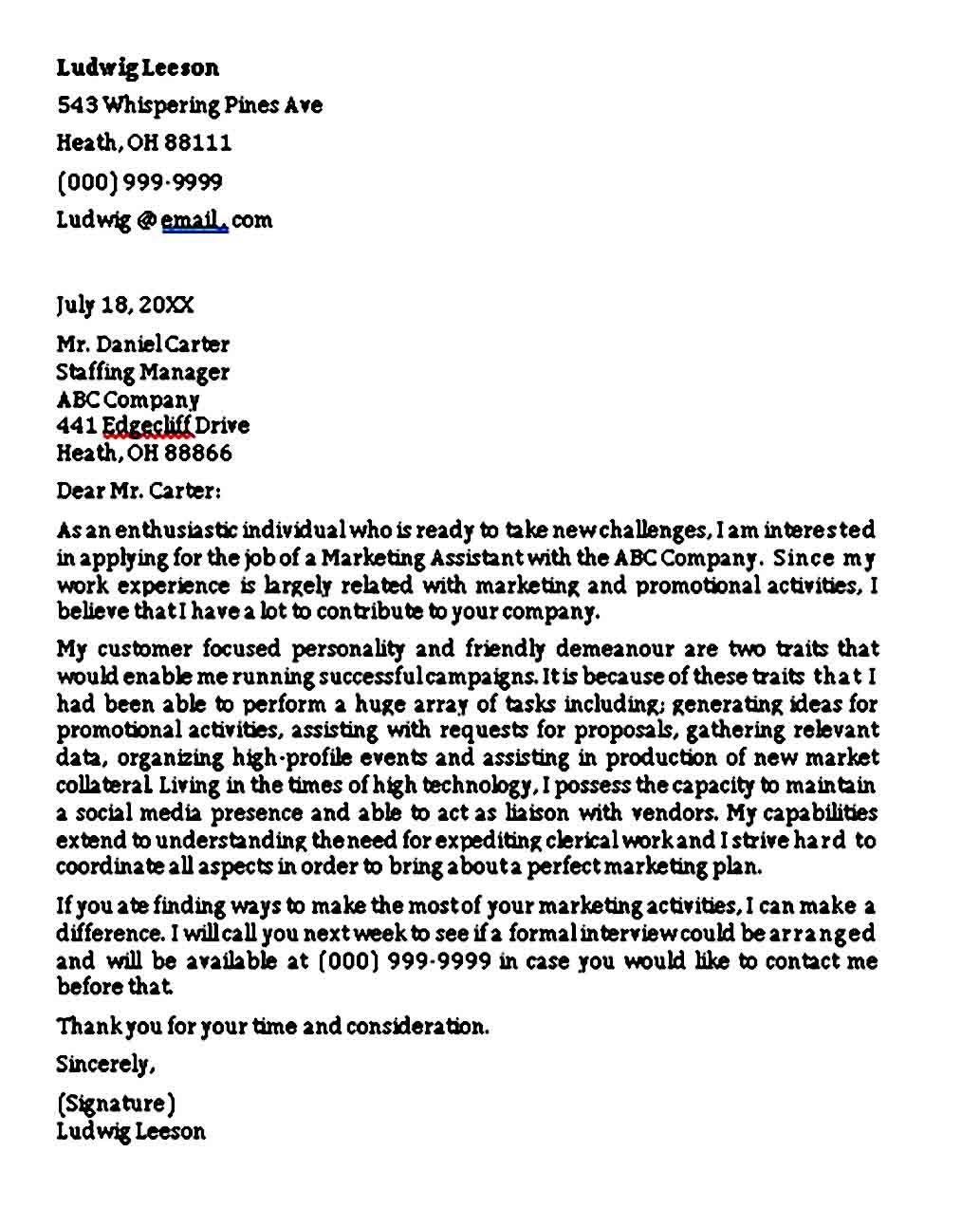 Entry Level Marketing Cover Letter Sample Pdf Word Marketing Cover Letter Cover Letter Sample Cover Letter Format