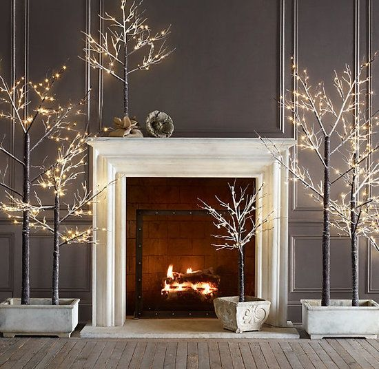 White and Silver Decor For a Modern, Wintry Style Holidays - contemporary christmas decorations