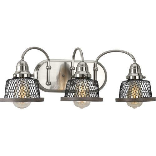 Photo of Progressive lighting Tilley 3 Light Bath Light – Brushed Nickel P300044-009