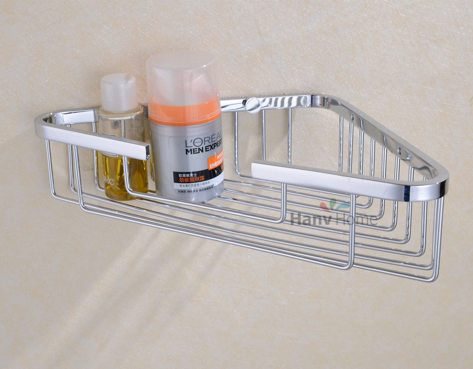 Corner Shower Caddy High Quality Stainless Steel Construction With 12pcs Stainless Steel Wire Strong Enough Size 8 3 W X 8 3 D X 2 4 H Not Absolute Right A
