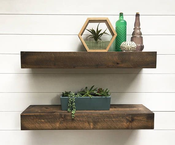 Deep Floating Shelves Floating Shelves Floating Shelf Floating Desk Floating She Floating Shelves Living Room Floating Shelves Rustic Wood Floating Shelves