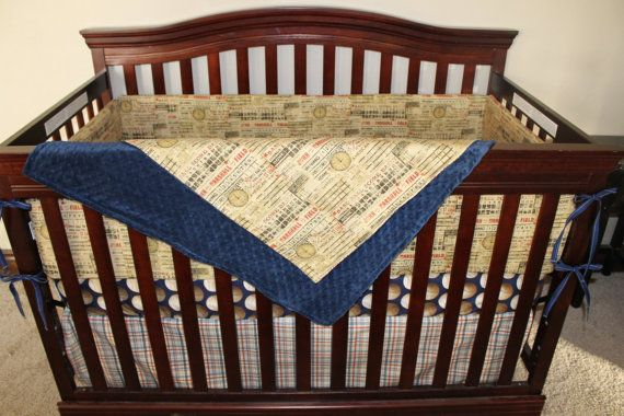 Who S On First Vintage Baseball Crib Bedding By