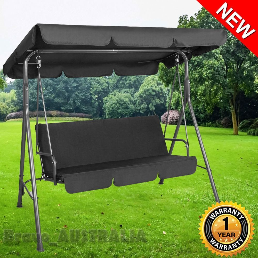 Outdoor Swing Seat 3 Chair Set Bed