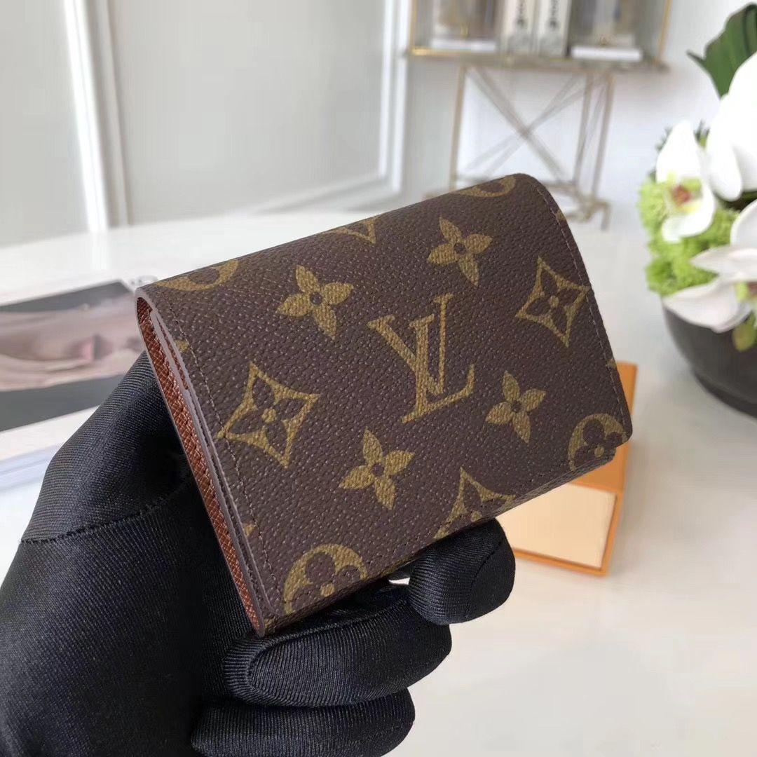 Louis Vuitton Monogram Canvas Enveloppe Carte De Visite M63801 2017