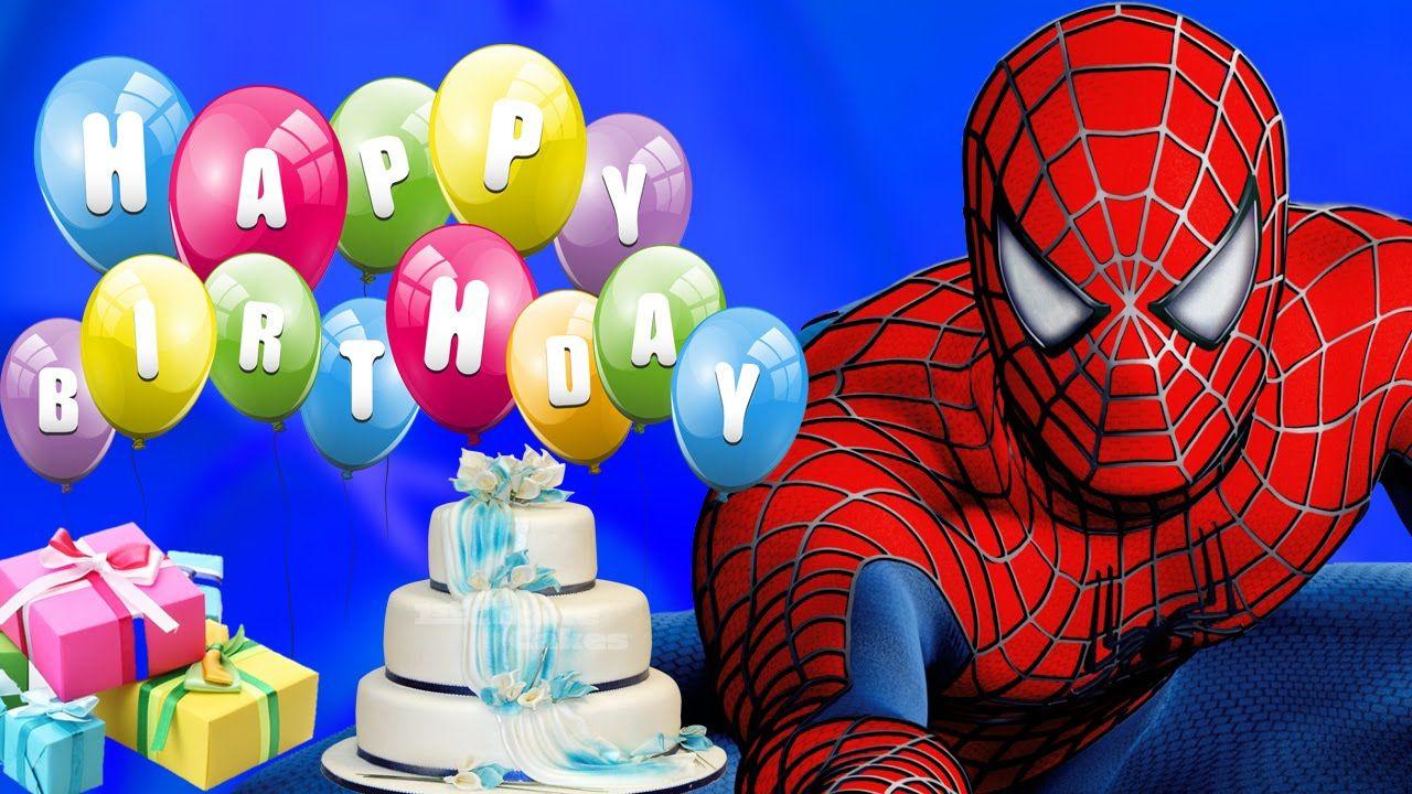 Spiderman Cartoons For Kids Happy Birthday Song Children