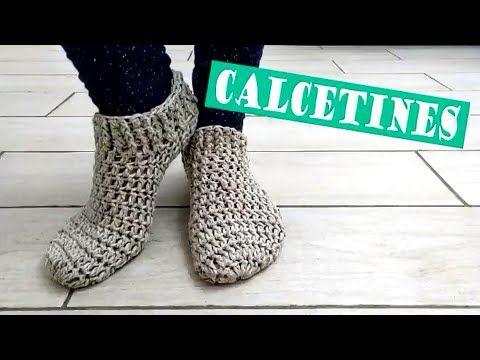 Zapatos o pantuflas UNISEX con trenzas gorditas a crochet en 9 ...