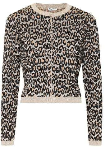 5c44b910ccc5ec Miu Miu Leopard wool-blend jacquard cardigan in 2019 | Products ...
