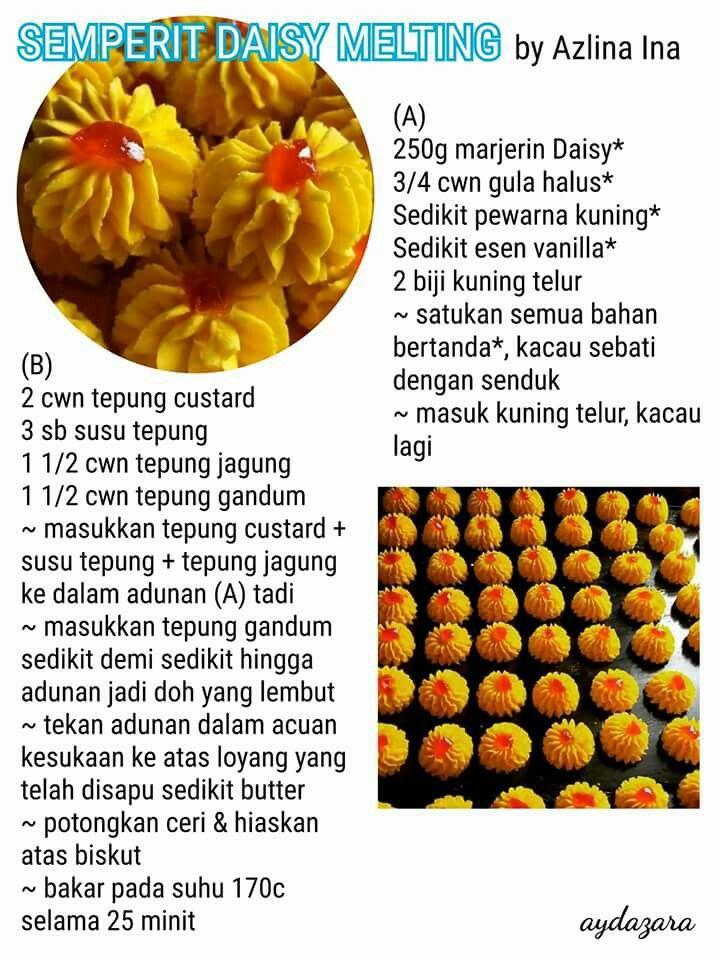 semperit daisy biscuit cookies snack cake yummy cakes Resepi Biskut Semperit Cheese Enak dan Mudah