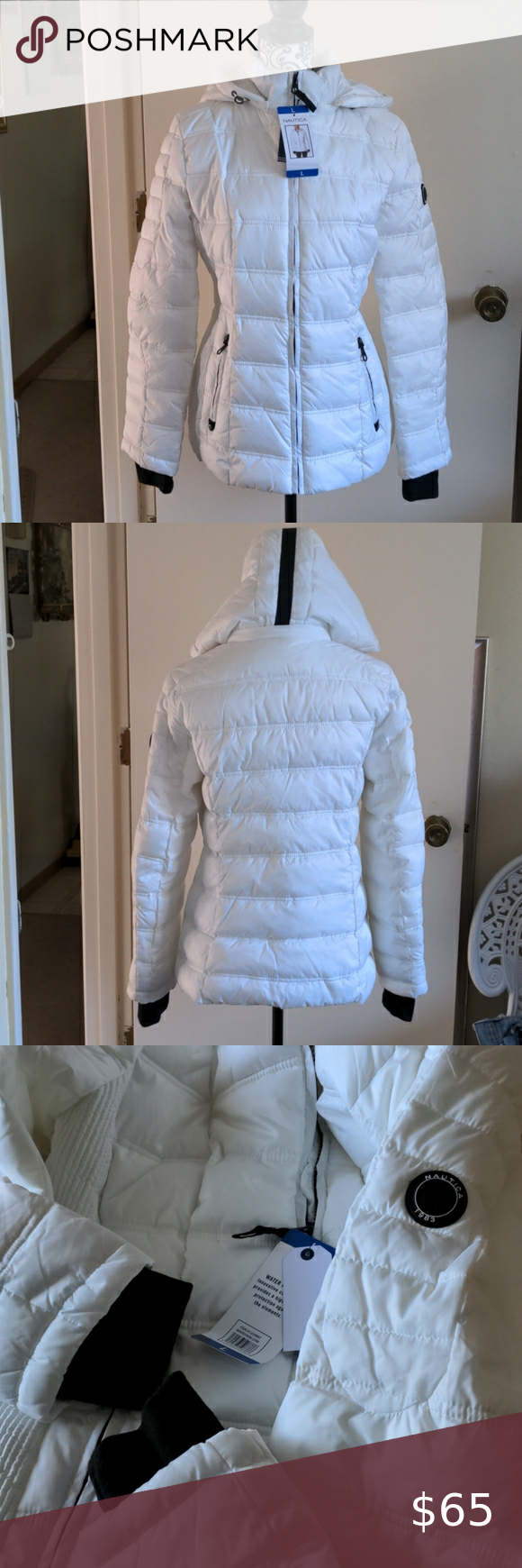 Nautica Water Resistant Size L Puffer Jacket Women Coats Jackets Women Reversible Puffer Vest [ 1740 x 580 Pixel ]