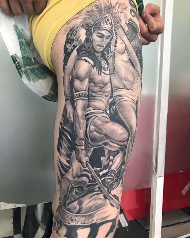 c03282d16 50 Of The Best Aztec Tattoos | Aztec pride tattoos | Aztec warrior ...
