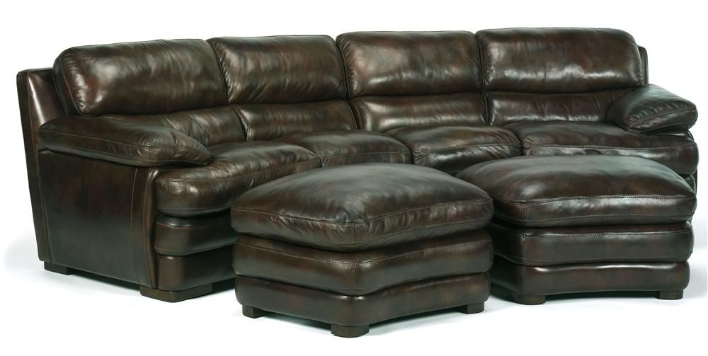 Flexsteel Laudes Dylan Leather Conversation Sofa With Laf Raf Conlin S Furniture