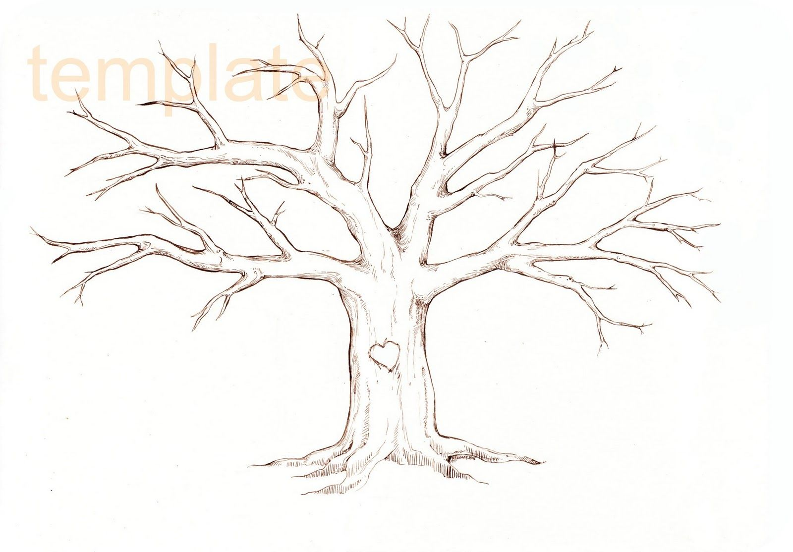 Diy Fingerprint Tree Template  BodyTats    Tree