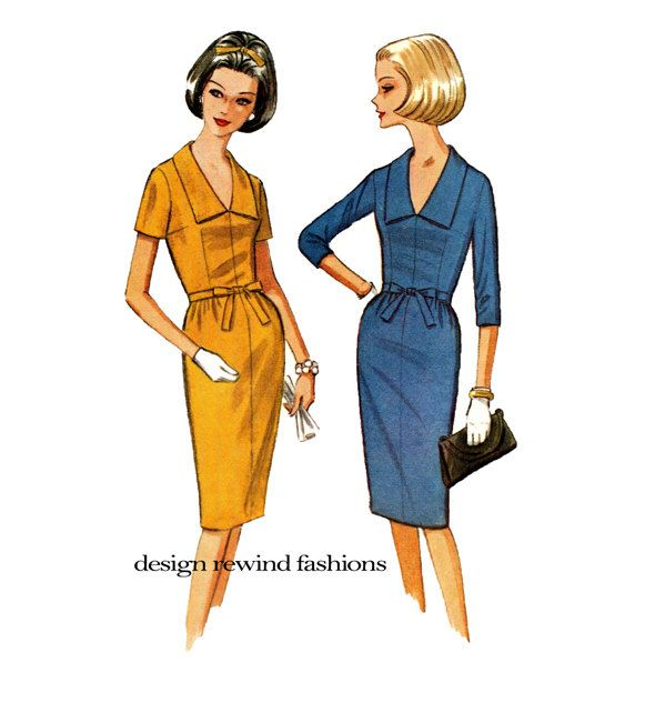 1960s McCALLS 7599 ONEPiece DRESS PATTERN Fitted Sheath Dresses ...