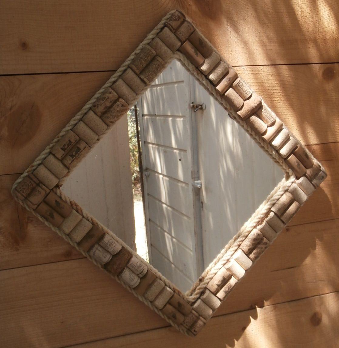 Wine corks framed mirror. | Upcycled Wine Corks | Pinterest ...