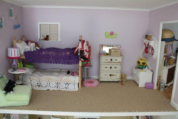dollhouse bedroom  american girl furniture american girl