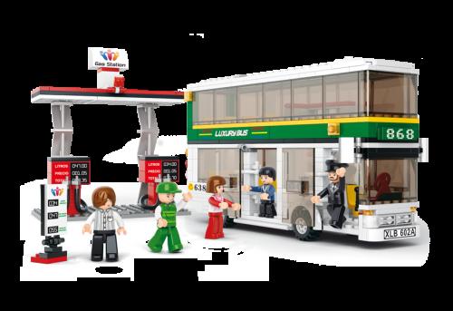 Sluban fra SBDanmark er et godt alternativ til de dyre klodser og er fuld ud kompatibel med mærker som f.eks Lego. Dobbeltdækker bus http://www.sbdanmark.dk/index.php/town/double-decker-bus-m38-b0331