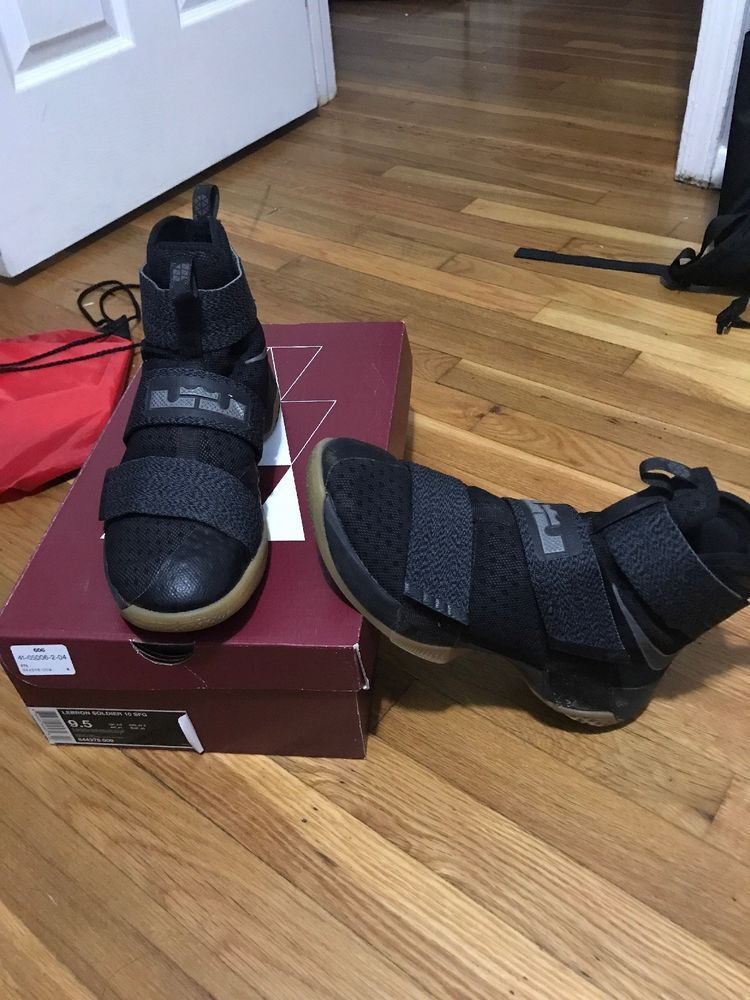 size 40 3ad1f 961eb Nike LeBron Soldier 10 SFG Black Gum Basketball Shoes 844378-009 US 9.5   fashion  clothing  shoes  accessories  mensshoes  athleticshoes