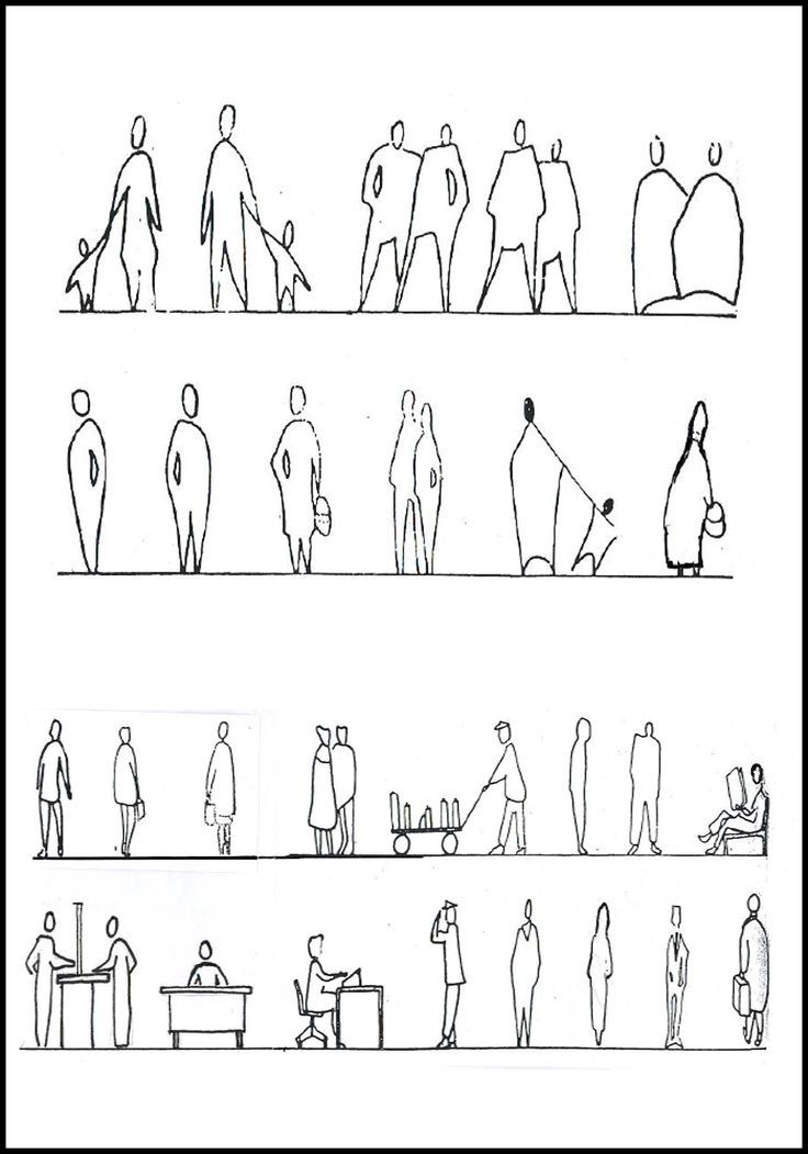 Architectural Drawing Font resultado de imagen de architecture people drawings silhouettes