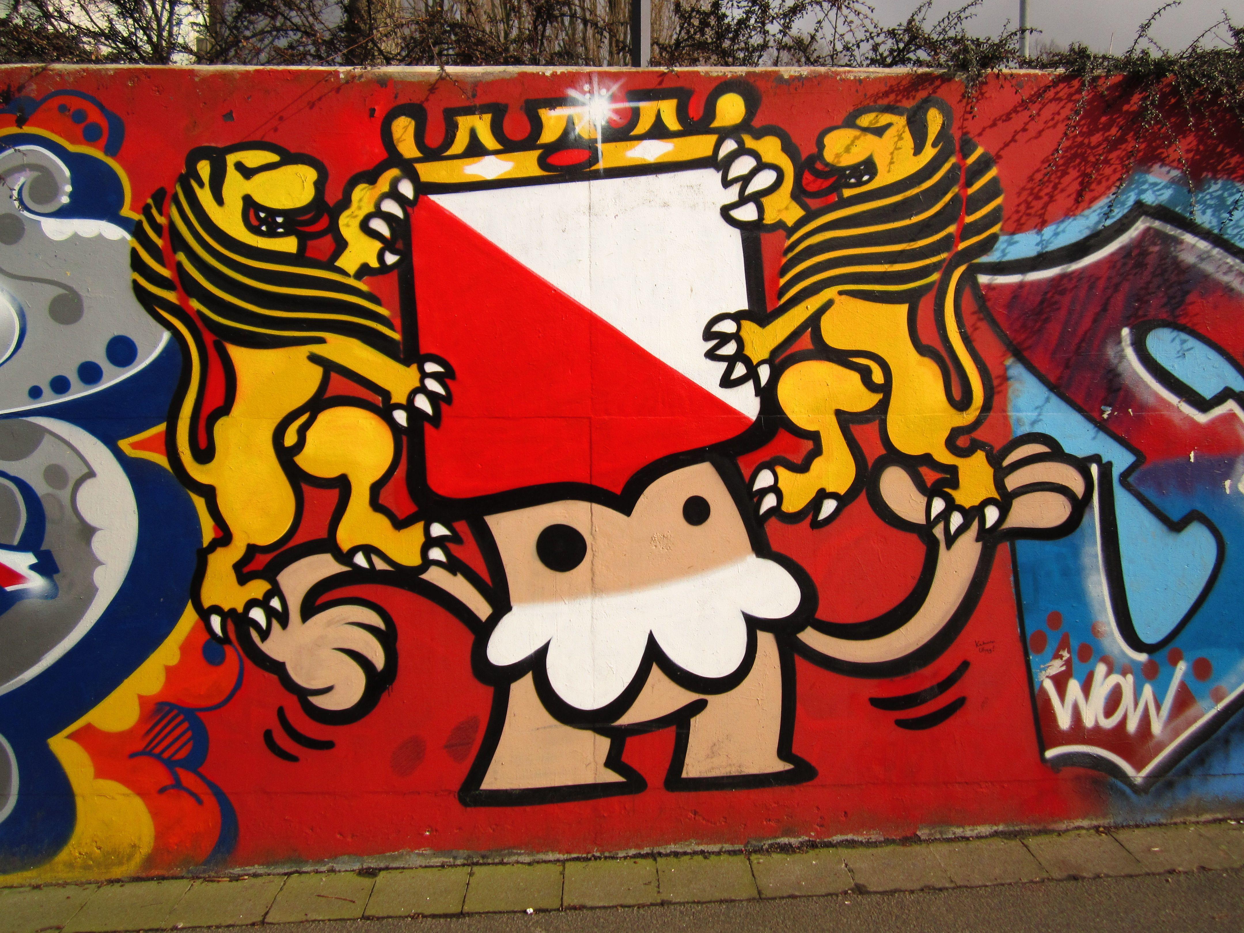 Graffiti wall utrecht - Kbtr Utrecht Hat Coat Of Arms De Utrechtse Kabouter