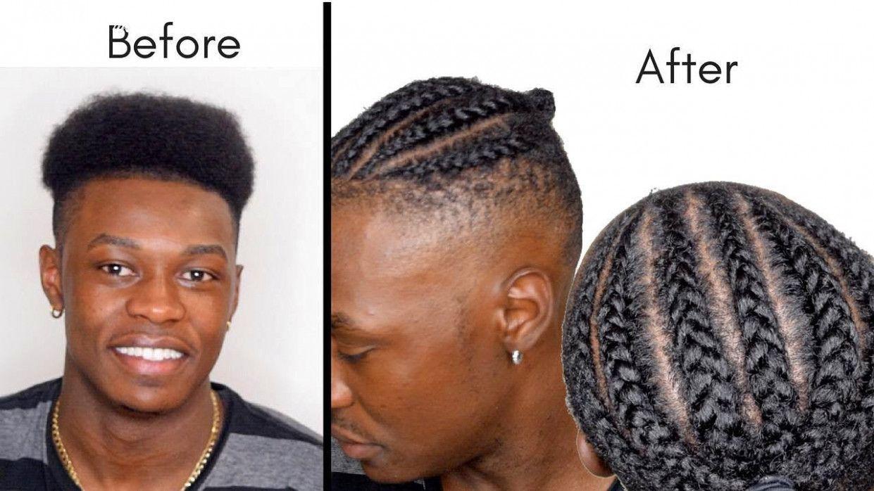 12 Short Braids Men in 2020   Cornrow hairstyles for men ...