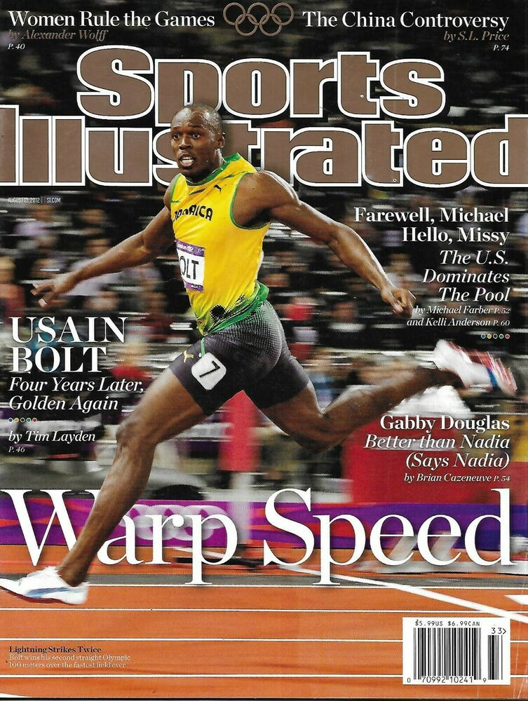 Sports Illustrated Magazine Usain Bolt Olympics Gabby