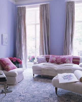 Decorology Some Great Inspiration Victorian Shabby Chic  Paints Fascinating Purple Living Room Designs Design Ideas