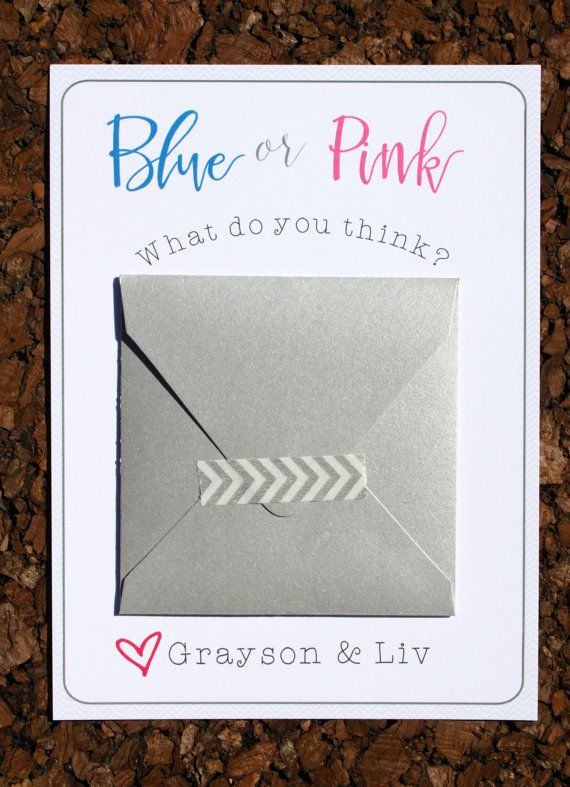 8 Gender Reveal Scratch Off Cards Pregnancy Reveal by LivLoveCruz – Baby Gender Announcement Cards