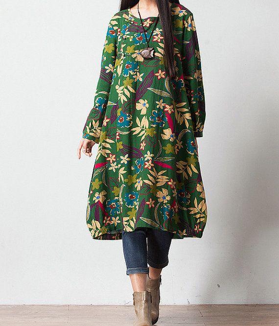 Women Print maxi dress by chaxuan