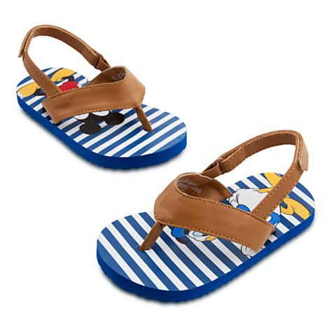 Mickey Mouse and Donald Duck Sandals for Baby