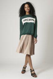 PU Pleated Midi Skirt £55
