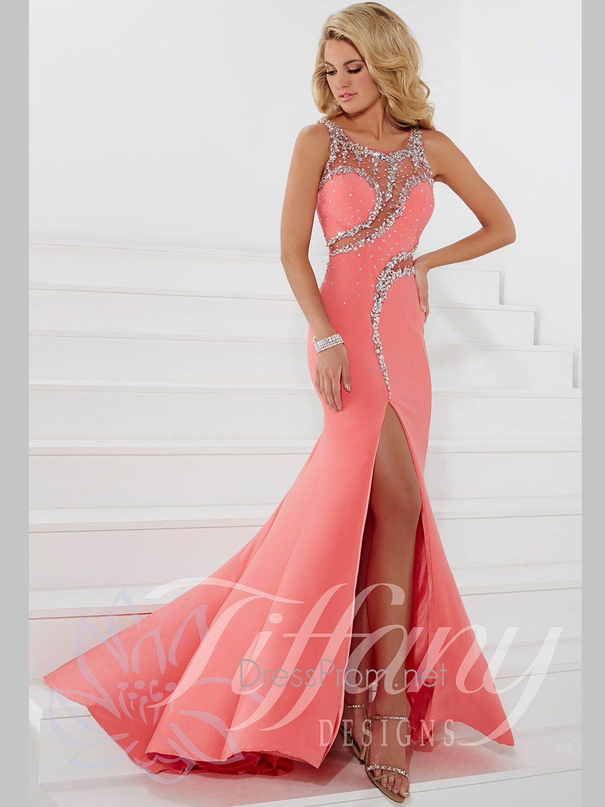 Shine in the spotlight in this Tiffany Designs prom dress and look ...