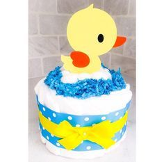 Diaper Cake  Duck Diapee Cake  Neutral by BouncingDiaperCakes