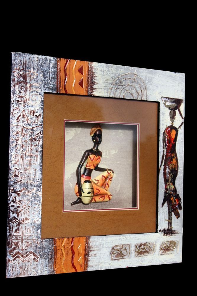 Decorative Shadow Boxes Enchanting American Black African Lady Decorative Figurine In Shadow Box 3D Decorating Design