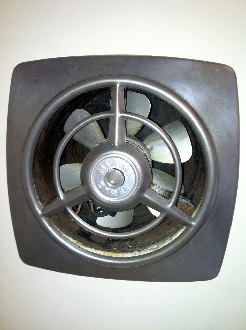 Wall mounted bathroom radio - Restored Vintage Miami Carey Kitchen Vent Fan Unearthered From Layers Of Flat White Wall Paint