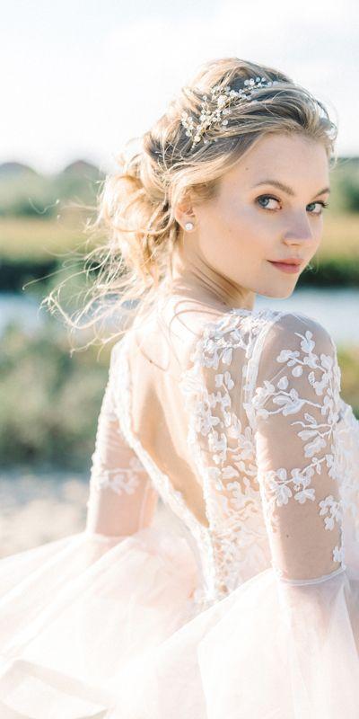 Photo of Pink wedding dress, boho wedding dress, bohemian dress, long…