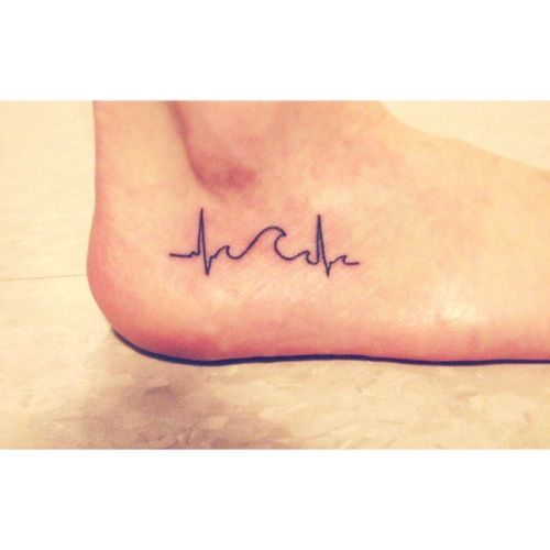 A Wave In A Heartbeat Tattoo To Represent The Ups And Downs And Success And Failure And Obstacles That My Heartbeat Tattoo Tattoos With Meaning Small Tattoos
